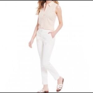 CREMIEUX White Casual Ankle Chinos Size 0